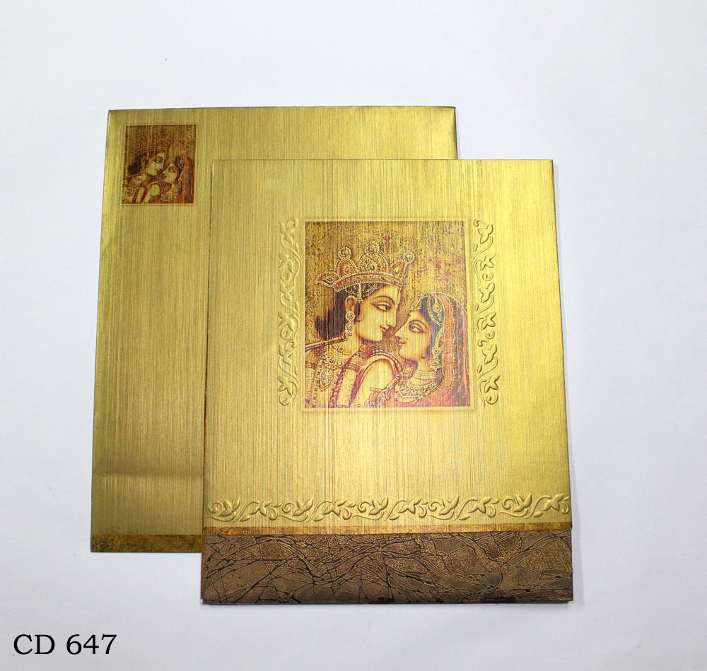 hindu_radha_krishna_wedding card_vashi