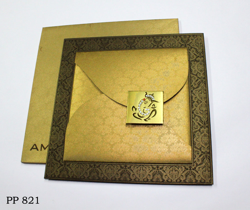 buy_hindu_metallic gold_box type_wedding card1_Vashi