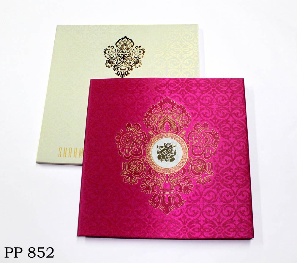 buy_royal_satin_pink_ganesh_hindu_wedding_card1_vashi